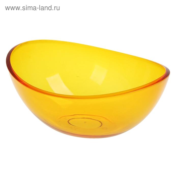 """Салатник 2,5 л """"Кристалл"""" прозрачный, цвет оранжевый"""