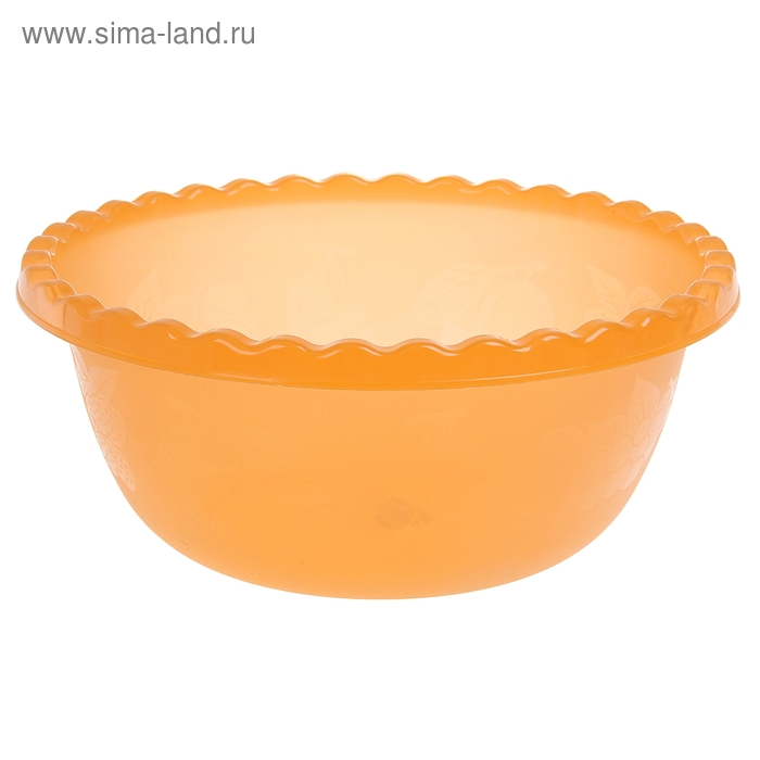 Миска 8 л круглая, цвет оранжевый