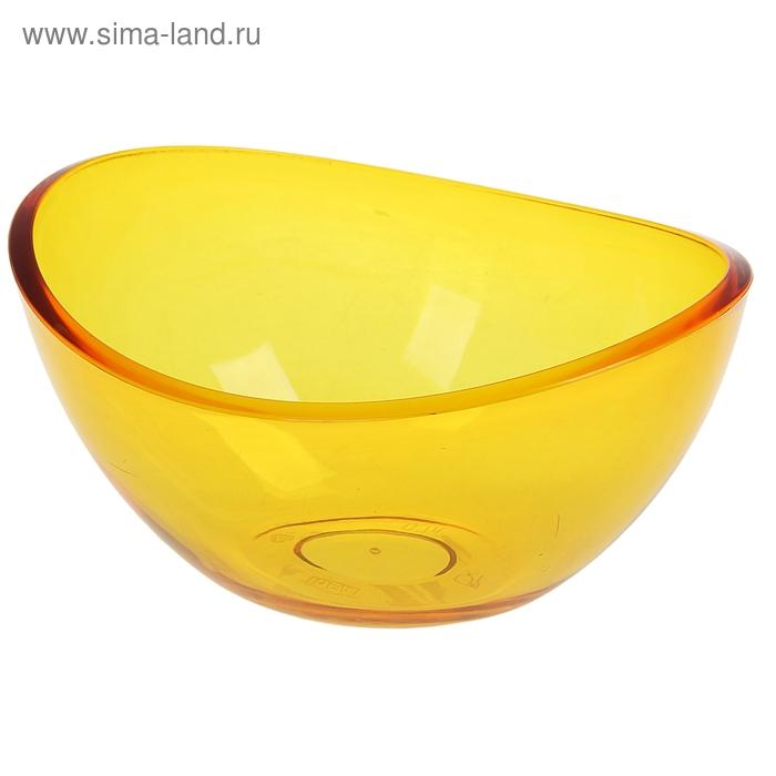 """Салатник 0,7 л """"Кристалл"""" прозрачный, цвет оранжевый"""