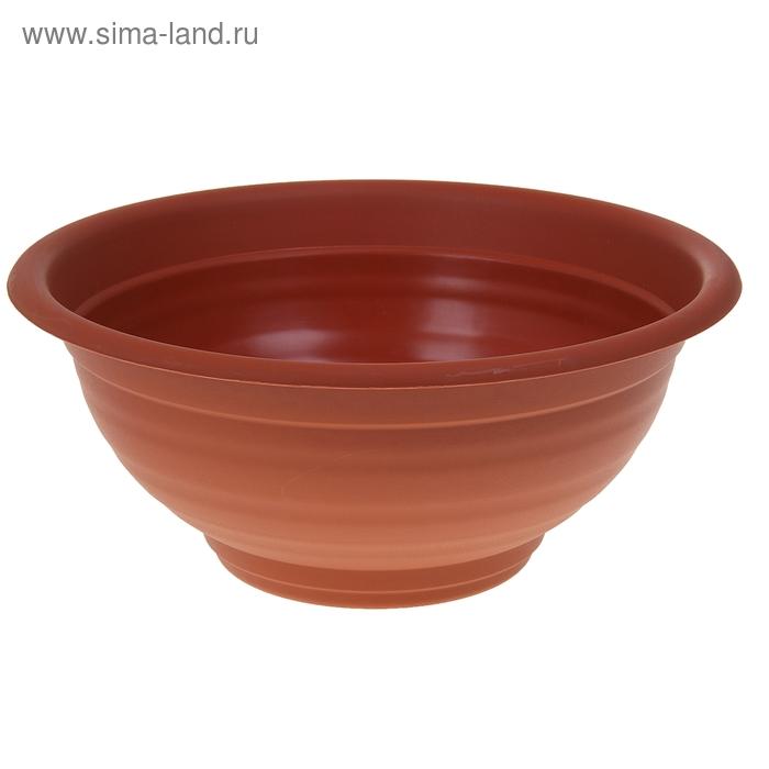 """Кашпо-миска d=50 см """"Ламела"""", цвет терракотовый"""