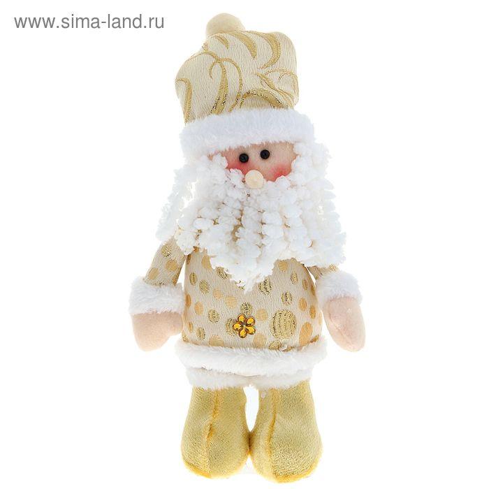 """Мягкая игрушка """"Дед Мороз на ножках"""" (золотой цветочек)"""