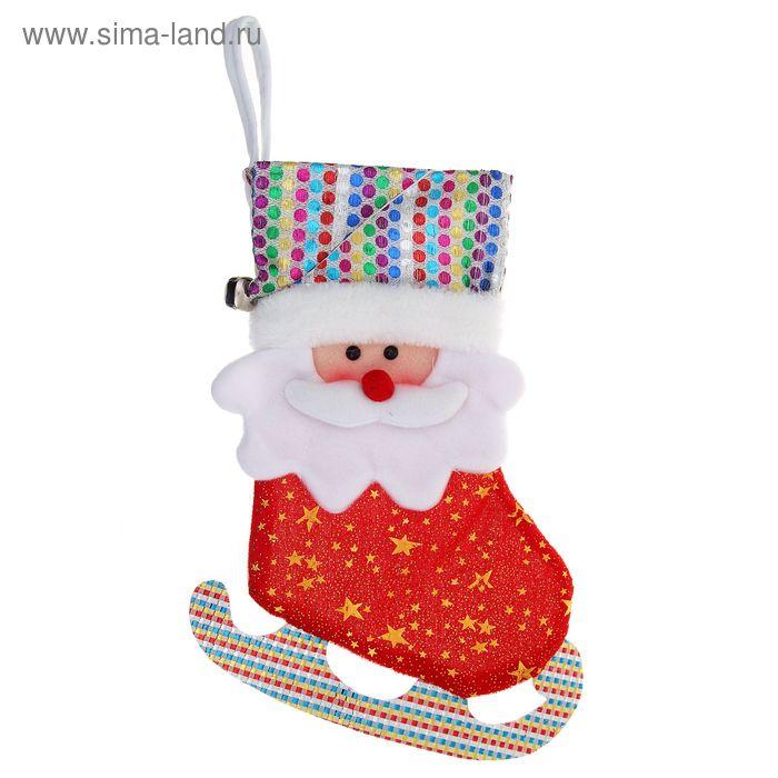 """Носок для подарка """"Конёк-Дед Мороз"""" (звёздочки)"""