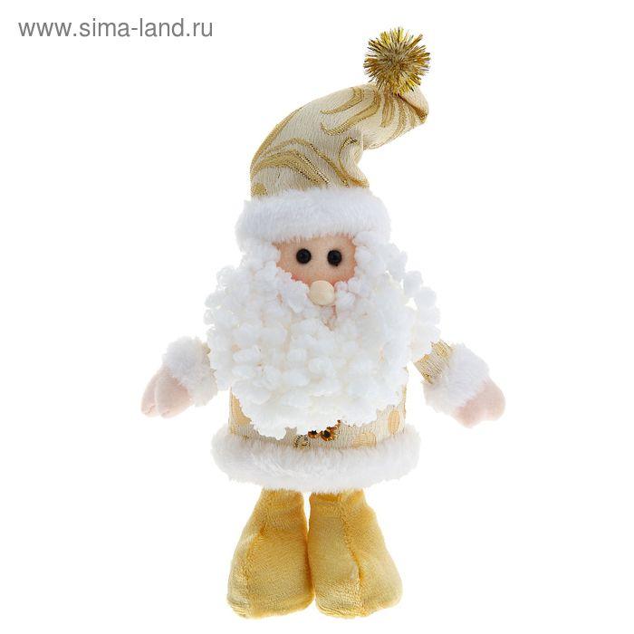 """Мягкая игрушка """"Дед Мороз на ножках"""" золотой цветочек"""