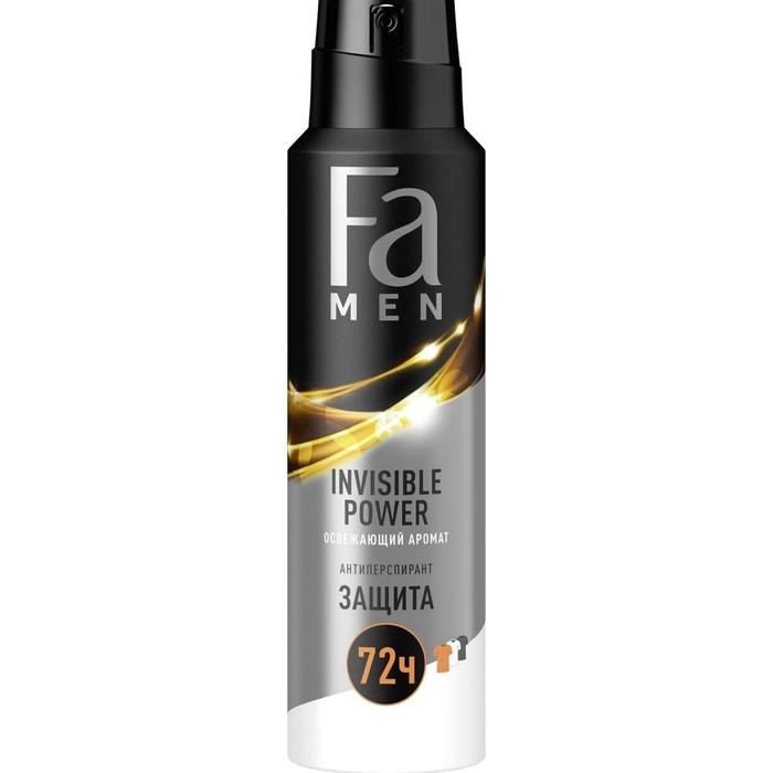 Дезодорант-антиперспирант Fa Men Xtreme Invisible, аэрозоль, 150 мл