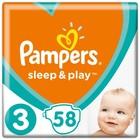 Подгузники «Pampers» Sleep&Play, Midi, 5-9 кг, 58 шт/уп