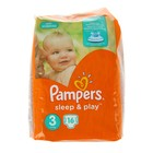 Подгузники «Pampers» Sleep&Play, Midi, 5-9 кг 16 шт/уп