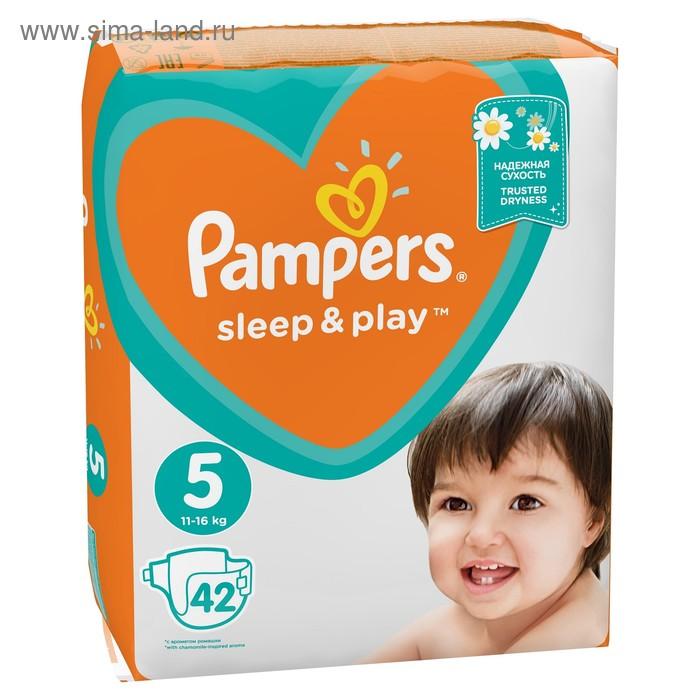 Подгузники «Pampers» Sleep&Play, Junior, 11-18 кг, 42 шт/уп