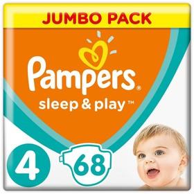 Подгузники «Pampers» Sleep&Play, Maxi, 8-14 кг, 68 шт/уп