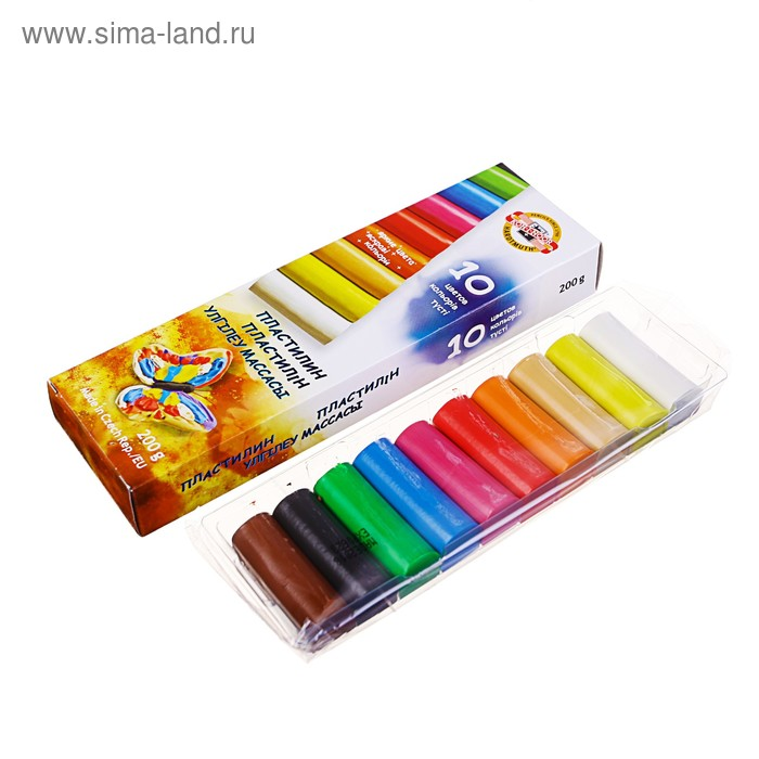 "Пластилин 10 цветов, 200гр ""Детский"" европодвес"