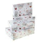 """Набор коробок 4 в 1 """"Сердца романтика"""", 30 х 20 х 8 - 24 х 14 х 5 см"""