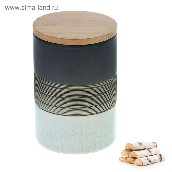 Свеча в керамической банке Белая берёза-молоко дерева, 400 мл