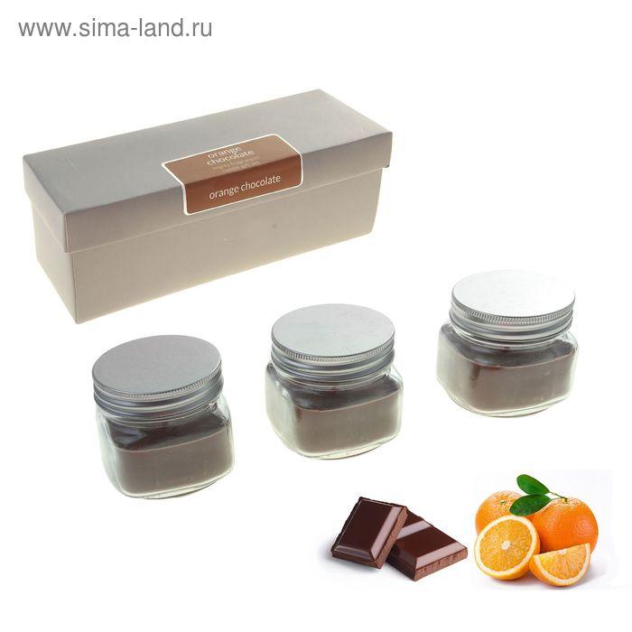 "Набор свечей SILVER ""Мэйсон"" в банке Апельсин-шоколад, 3х112 мл"