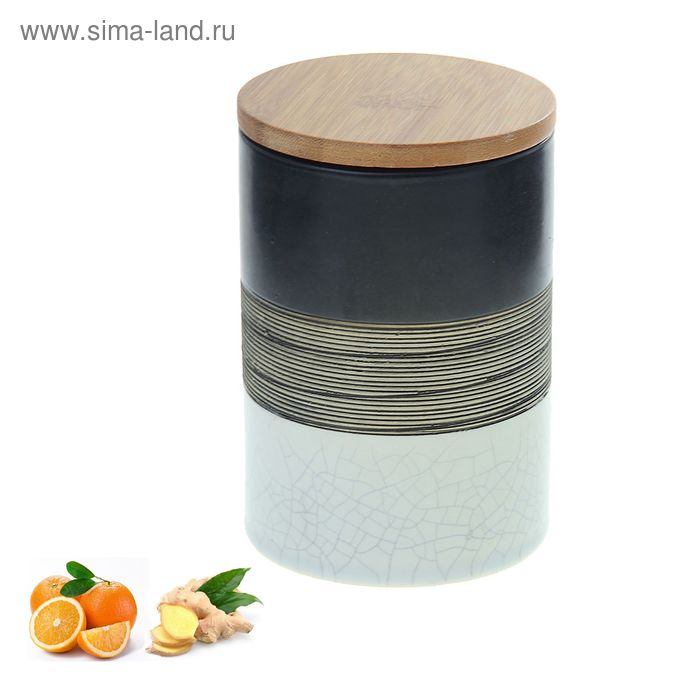 Свеча в керамической банке Цедра апельсина-имбирь, 400 мл