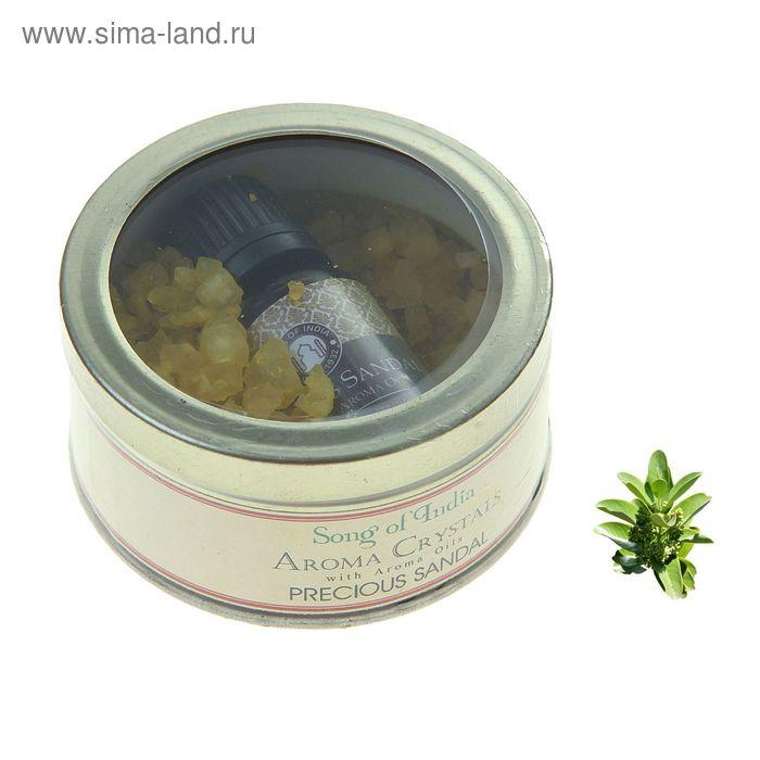 Аромакристаллы 70 гр с аромамаслом 10 мл в жестяной банке Драгоценный сандал