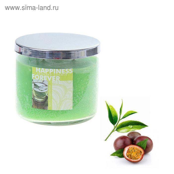 Свеча в банке Зелёный чай-маракуйя, 390 мл