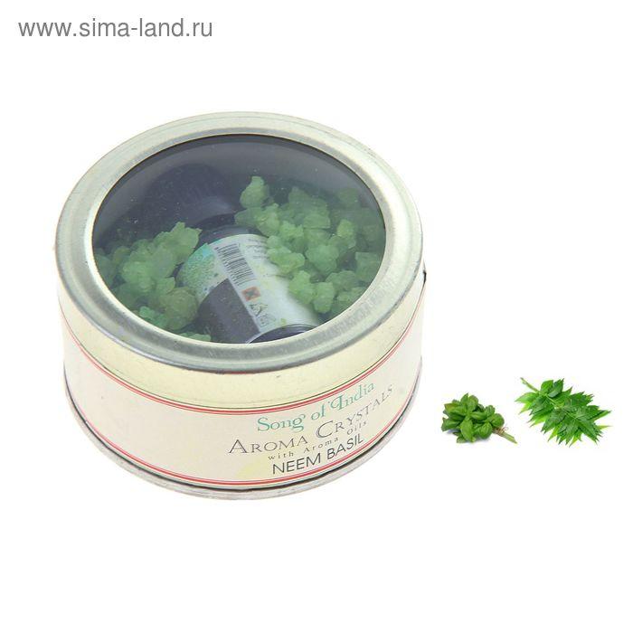 Аромакристаллы 70 гр с аромамаслом 10 мл в жестяной банке Ниим - Базилик