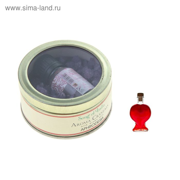 Аромакристаллы 70 гр с аромамаслом 10 мл в жестяной банке Афродизиак