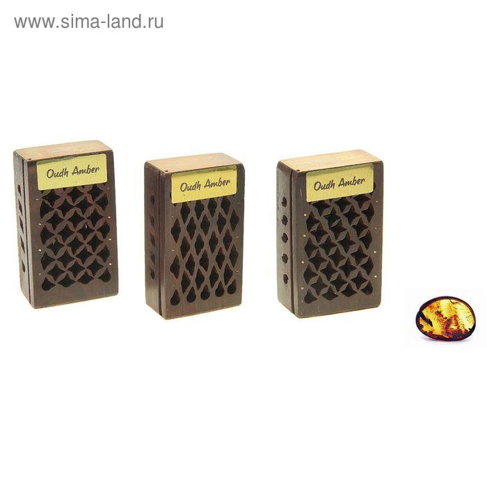 Аромасаше янтарь в шкатулке Черный амбер, 5 г. МИКС