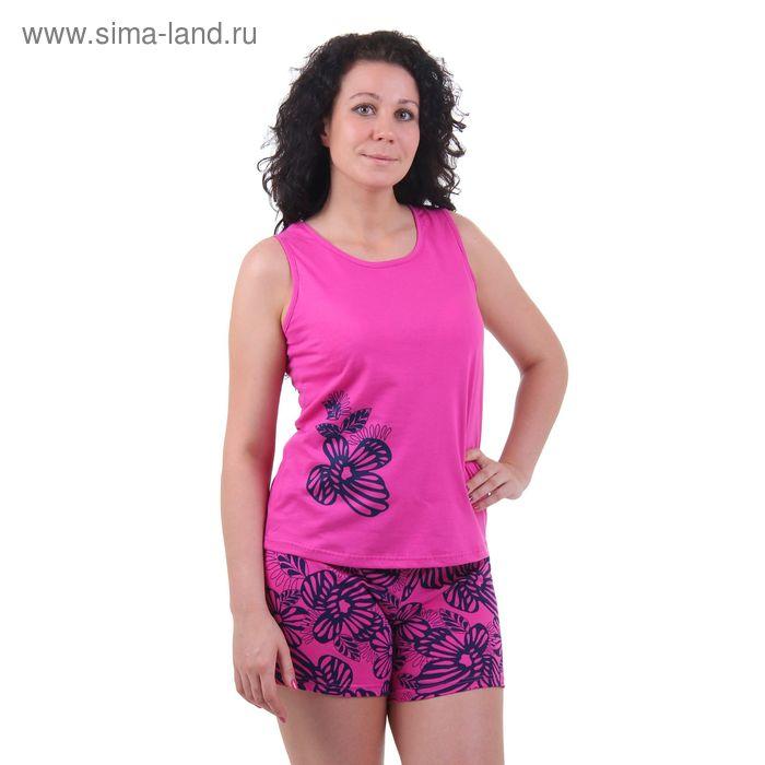 Пижама женская (майка, шорты) 5512 ульяна/фуксия/сумерки, р-р 46 рост 158,164