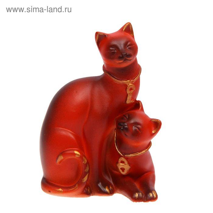 """Статуэтка """"Коты"""" ключик и замочек, рыжая"""