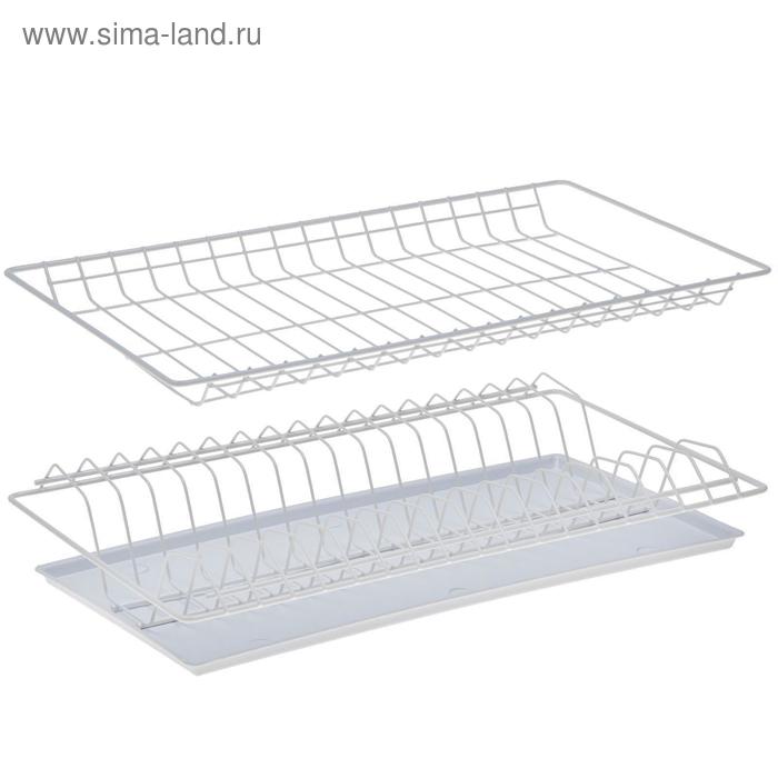 Комплект посудосушителей 46,5х25,6 см с поддоном, для шкафа 50 см, цвет белый