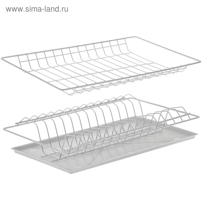 Комплект посудосушителей 41,5х25,6 см с поддоном, для шкафа 45 см, цвет белый