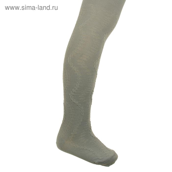 Колготки детские с ажурным эффектом, рост 98-104 см, цвет светло-серый 2ФС73