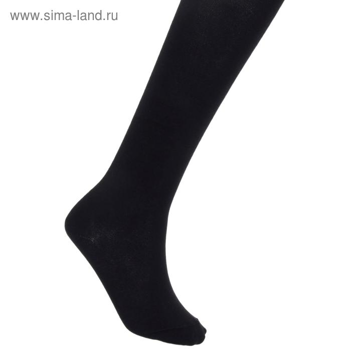 Колготки детские КДО, цвет черный, рост 116-122 см