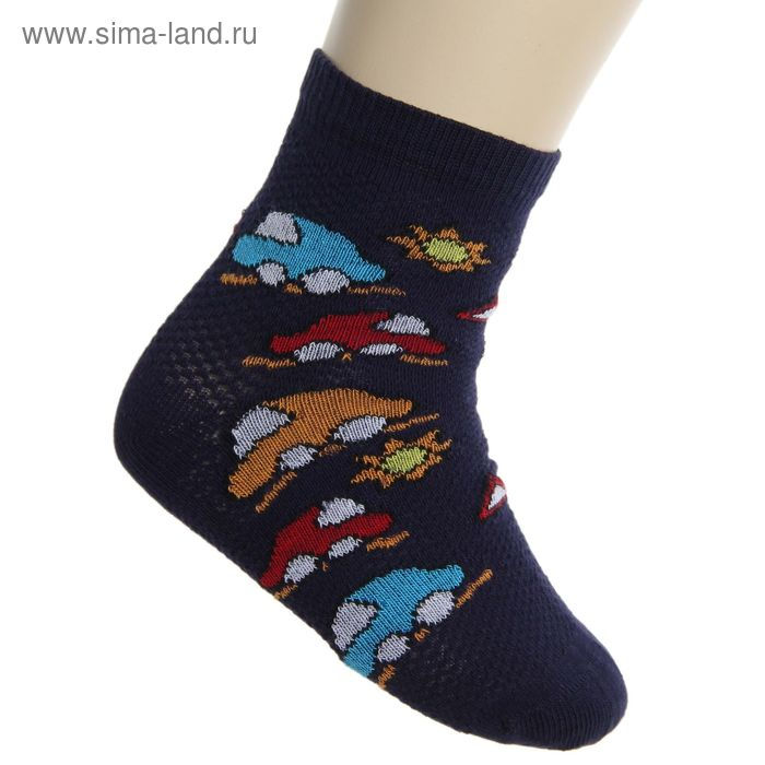 Носки детские, размер 16-18, цвет темно-синий НДМ2