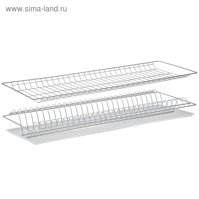 Комплект посудосушителей 76,5х25,6 см с поддоном, для шкафа 80 см, хром
