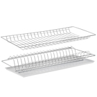 Комплект посудосушителей 56,5х25,6 см с поддоном, для шкафа 60 см, оцинковка