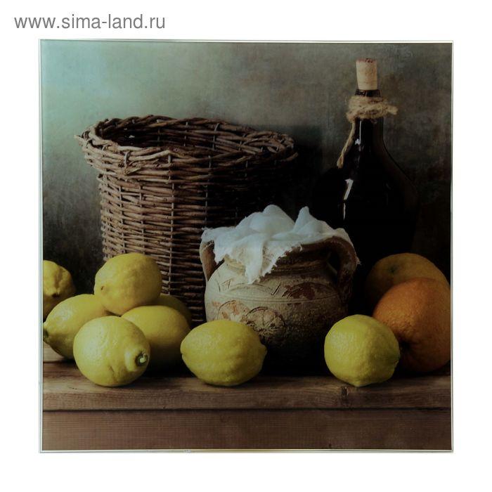 """Картина на стекле """"Натюрморт с лимонами"""""""