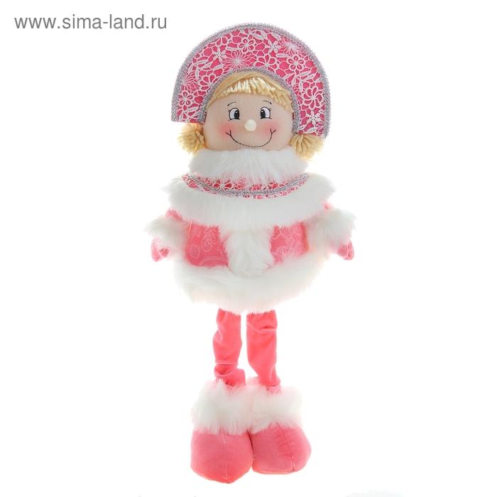 """Мягкая игрушка """"Снегурочка в розовом"""" (белые кружева)"""