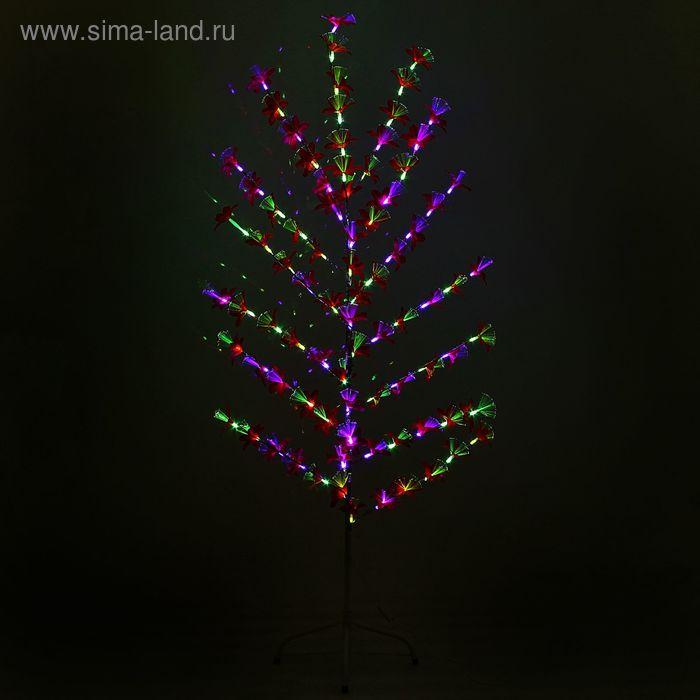 """Светодиодный куст улич. 1,5 м, """"Лилия красная"""", 84 LED, 220V, моргает RG/RB"""
