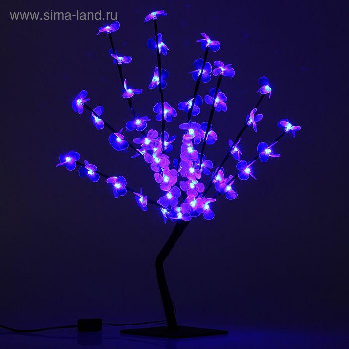 """Светодиодный куст улич. 0,65 м, """"Цветок сакуры"""", 50 LED, 220V, фиксинг СИНИЙ"""
