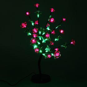 """Светодиодный куст улич. 0,6 м, """"Цветы"""", 40 LED, 220V, РОЗОВЫЙ"""