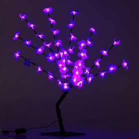 "Светодиодный куст улич. 0,65 м, ""Цветок сакуры"", 50 LED, 220V, фиксинг ФИОЛЕТОВЫЙ"