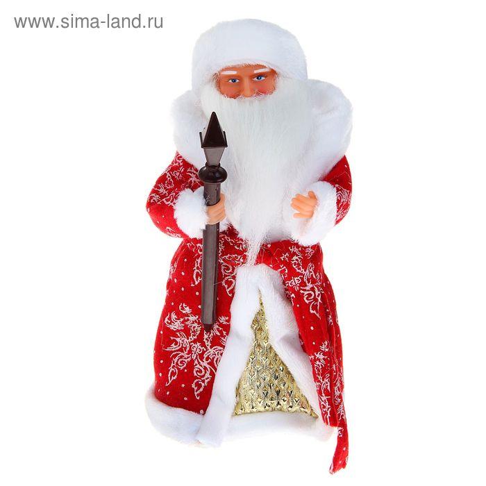 Дед Мороз, в красной шубе с поясом, русская мелодия
