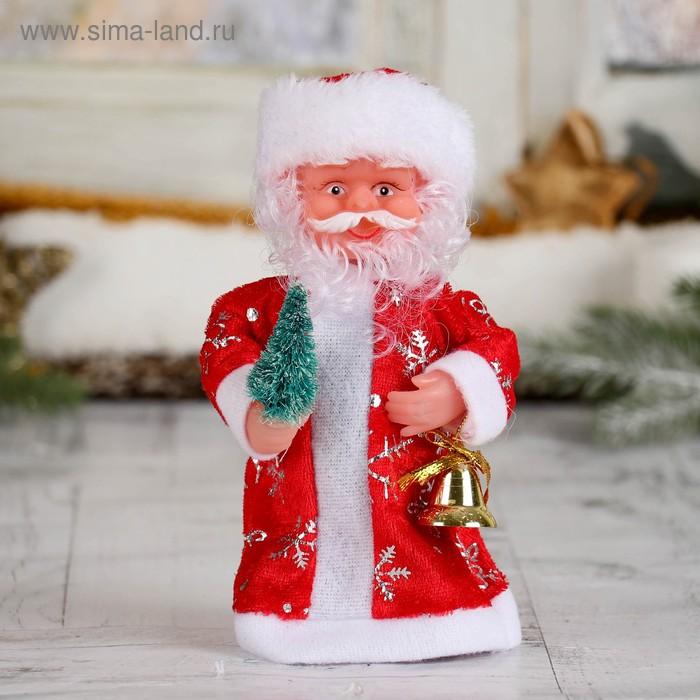 Дед Мороз, в длинной шубе, с ёлкой, русская мелодия