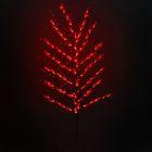"""Светодиодный куст улич. 1,5 м, """"Цветок павлин"""", 84 LED, 220V, фиксинг, КРАСНЫЙ"""