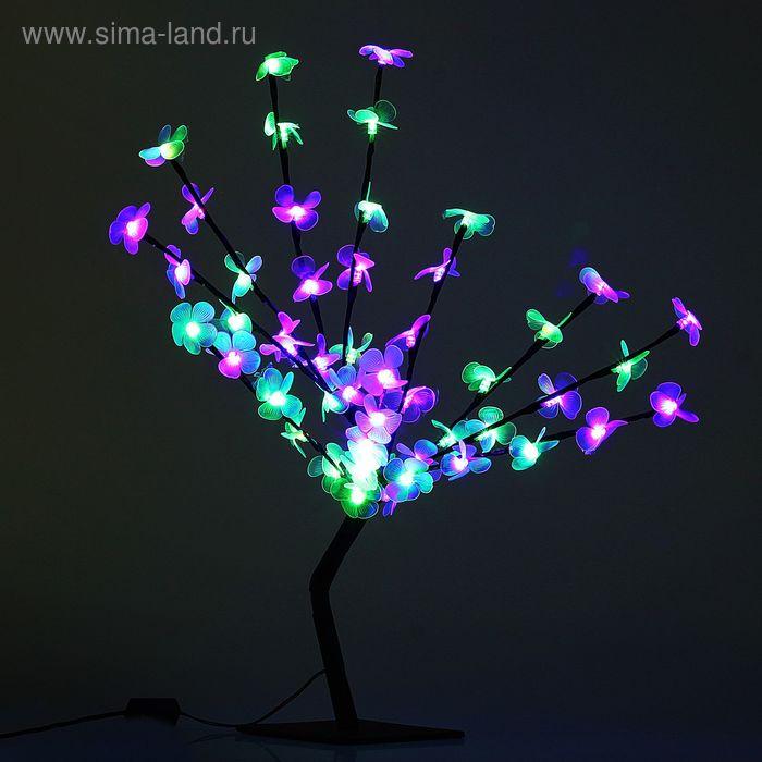 "Светодиодный куст улич. 0,65 м, ""Цветок сакуры"", 50 LED, 220V, моргает RG/RB"