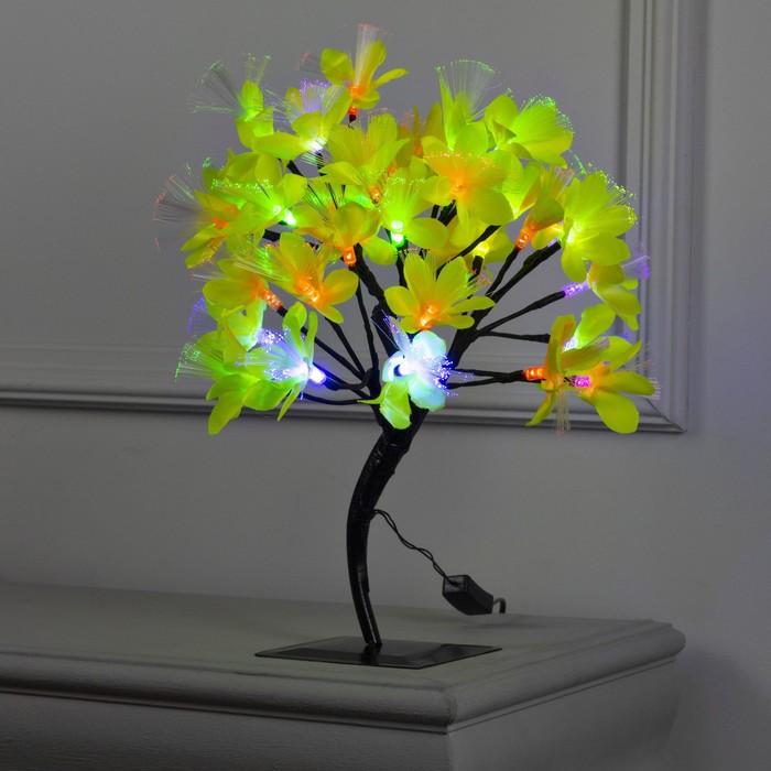 """Светодиодный куст улич. 0,3 м, """"Лилия желтая"""", 32 LED, 220V, моргает RG/RB"""