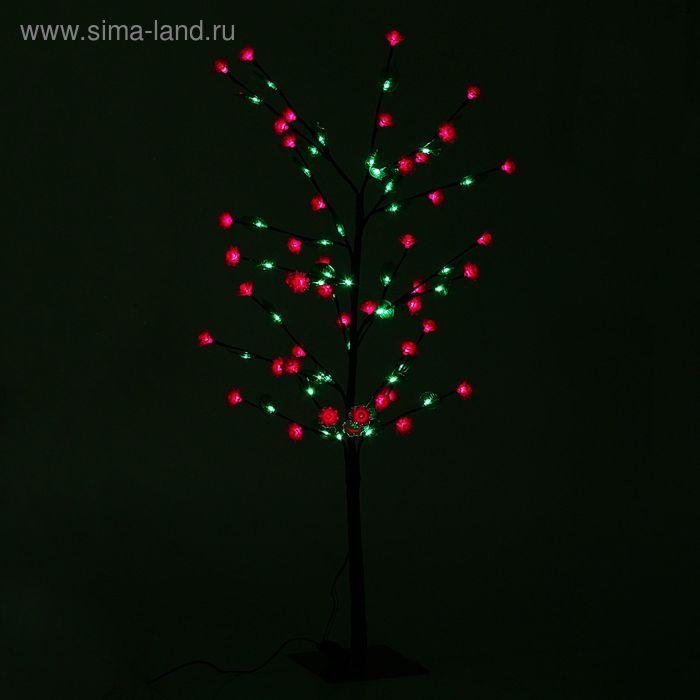 """Светодиодный куст улич. 1,2 м, """"Роза"""", 84 LED, 220V, контроллер 4 режима РОЗОВЫЙ"""