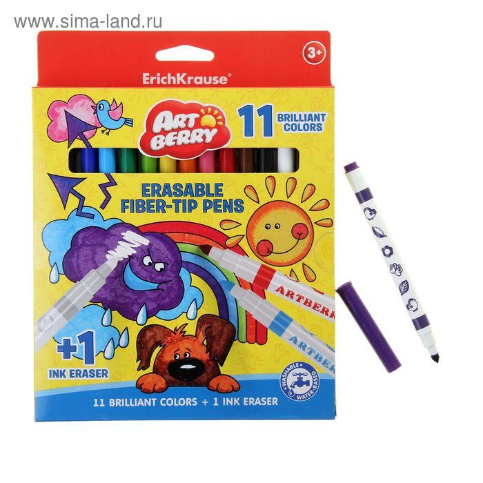 Фломастеры рисуй-стирай 12 цветов (11+1) Artberry, супертип, с подвесом, EK 37024