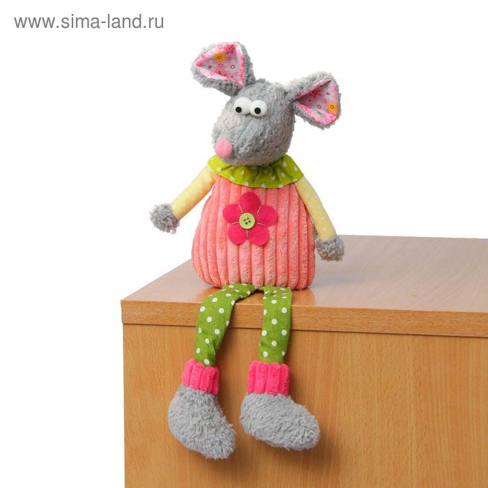 """Мягкая игрушка """"Мышка"""", цветочек на животике"""