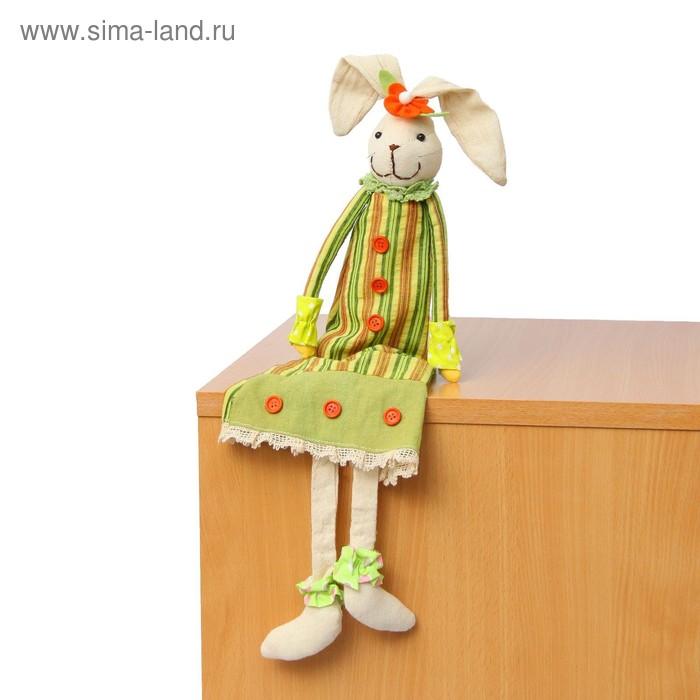 """Мягкая игрушка """"Зайка"""", полосатое платье"""