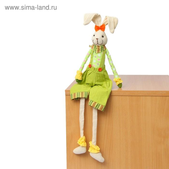 """Мягкая игрушка """"Зайка"""", зеленые шорты"""