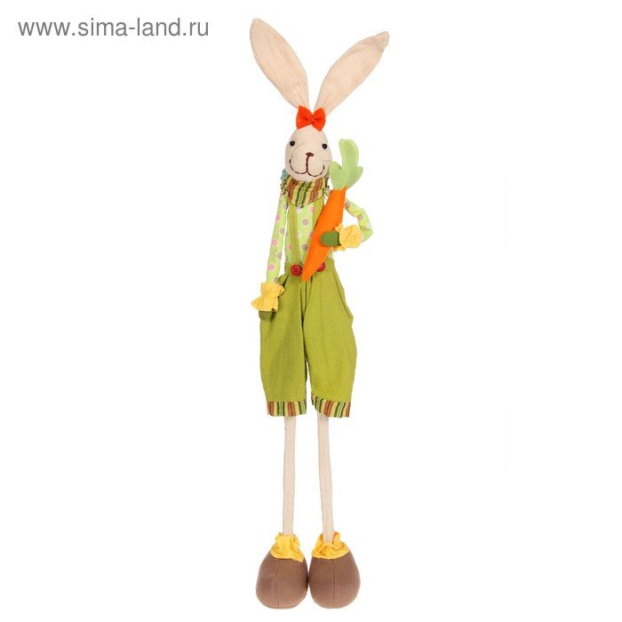 "Мягкая игрушка ""Зайка"", с морковкой"