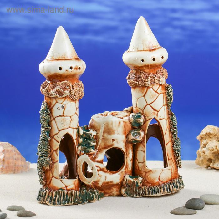 """Декорации для аквариума ''Замок со скалой"""""""