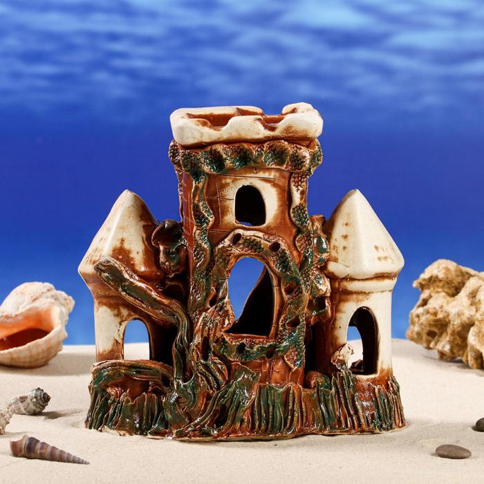 """Декорации для аквариума """"Крепость с куполами"""" микс"""